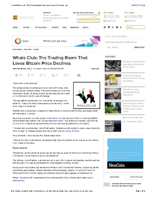 Inside Whale Club: The Trading Room that Loves Bitcoin Price Declines