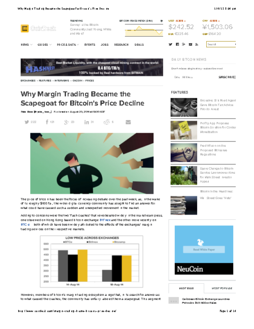 Why Margin Trading Became the Scapegoat for Bitcoin's Price Decline