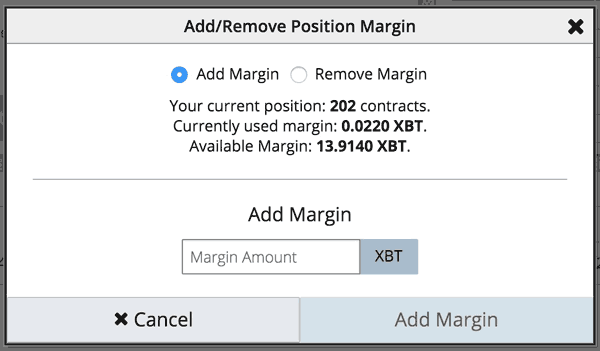 Adjusting Margin